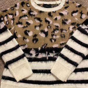 Mustard Seed Sweaters - Soft leopard sweater- small